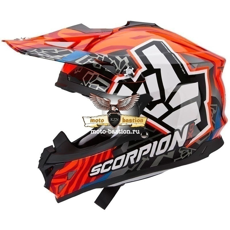 Шлем SCORPION EXO VX-15 AIR EVO ROK BAGOROS (рыжий)