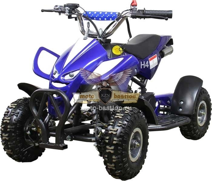 Машинокомплект ATV H4 Mini  ATV-049   2T  49cc (Синий/Белый)