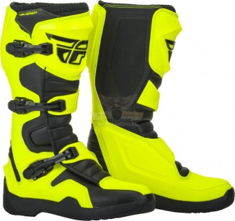 Экипировка - Мотоботы FLY RACING MAVERIK черные /Hi-Vis желтые